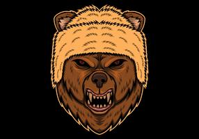 orso arrabbiato testa illustrazione vettoriale