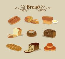 Modello di pane senza soluzione di continuità vettore