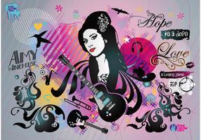 Amy Winehouse vettore