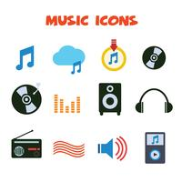 icone di colore di musica