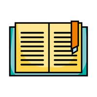 oggetto del libro di istruzione per imparare e studiare vettore