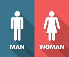 lunga ombra piatta uomo e donna