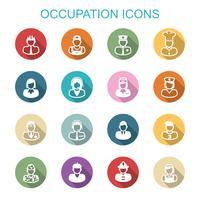 icone di lunga ombra di occupazione