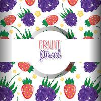 Sfondo di pixel di frutta
