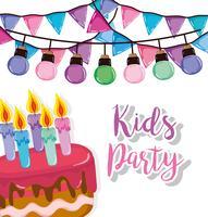 Cartoon festa per bambini vettore