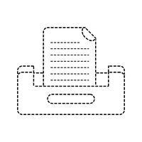 disegno dell'armadietto file documento buciness forma punteggiata