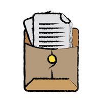 cartella di file con informazioni sul documento commerciale vettore
