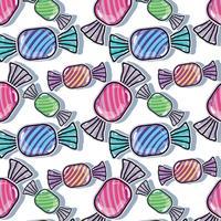 delizioso disegno di sfondo di caramelle dolci vettore