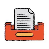 disegno del gabinetto di file di documento di buciness vettore