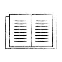 figura oggetto del libro di istruzione per imparare e studiare vettore