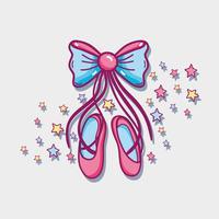 ballerina accessori decorazione per prestazioni di eleganza vettore