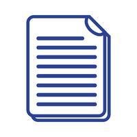 linea di informazioni sui documenti aziendali a informazioni aziendali vettore