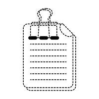 informazioni del documento commerciale di forma punteggiata con disegno a clip
