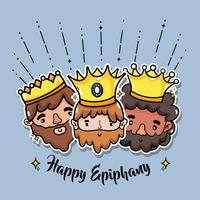 disegno di celebrazione della festa cattolica di epifania