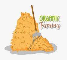 Cartoni animati per l'agricoltura biologica vettore