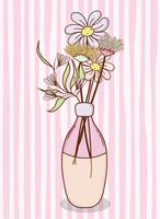 Mazzo di fiori in vaso barattolo di vetro