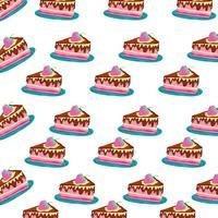 Sfondo torta di compleanno vettore