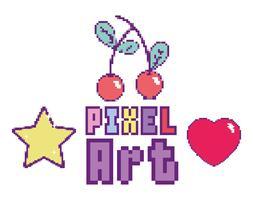 concetto di pixel art vettore