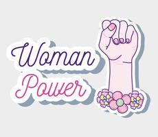 Fumetto di potere della donna vettore