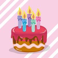 Cartoni animati di buon compleanno vettore