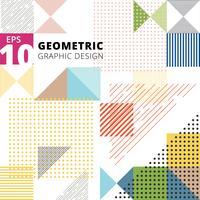 Motivo geometrico multicolor astratto. Design moderno di elementi geometrici alla moda.