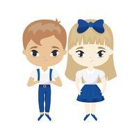 simpatico personaggio avatar di piccoli studenti