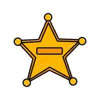 icona stella sceriffo vettore