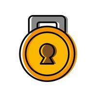 icona del lucchetto di sicurezza vettore