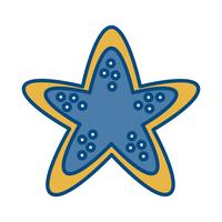 icona stella marina vettore