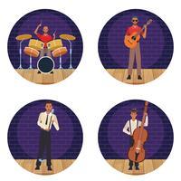 Cartoni animati artista musicista vettore