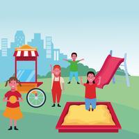 bambini al parco giochi