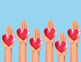 Cartoni di beneficenza per donazione di sangue