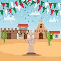 Scenario di città messicana