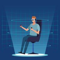 Tecnologia della realtà virtuale vettore