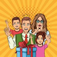 Cartoni animati pop art per la festa del papà