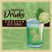 poster di cocktail tropicale