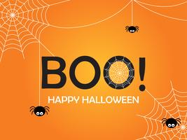 Fondo felice del modello di progettazione del manifesto di Halloween