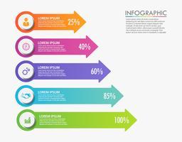 Visualizzazione dei dati aziendali. icone infografica timeline progettate per modello astratto
