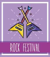 evento musicale per concerti rock festival vettore