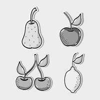 scenografia di frutta tropicale vettore