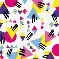 stile memphis con disegno geometrico a colori