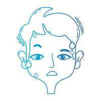 linea uomo con mal di testa al problema dello stress