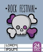 concerto dell'evento festival di musica rock vettore