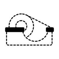 disegno oggetto nastro adesivo trasparente forma punteggiata vettore