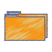 file cartella colori per salvare le informazioni sui documenti da archiviare vettore