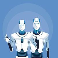 avatar robot umanoide vettore