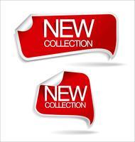 Collezione di adesivi ed etichette distintivi moderni