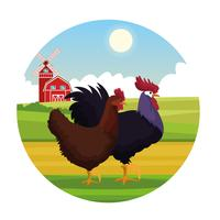 Farm animali rurali cartoni animati