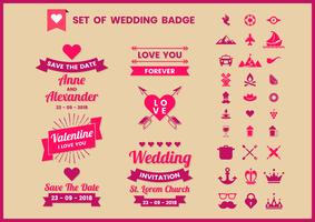 Matrimonio retrò vettoriale per banner