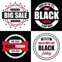 Vendita di banner del Black Friday, il migliore modello per il tuo web vettore